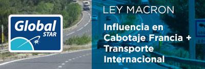 Aplicación de la Ley Macron al transporte: cabotaje en Francia y transporte internacional