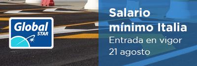 Salario Mínimo en Italia: Entrada en vigor 26 de diciembre 2016