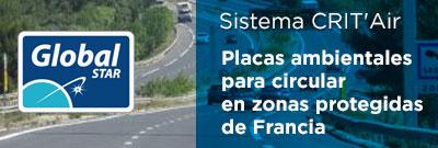 Placas ambientales en Francia: Sistema CRIT'Air