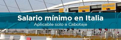Salario Mínimo en Italia: Entrada en vigor 26 de enero de 2017