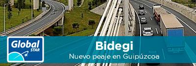 Bidegi, nuevo peaje en Guipúzcoa