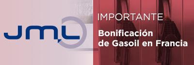 Bonificación de Gasoil en Francia: Tasa de reembolso para el primer semestre de 2018