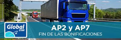 Bonificación para vehículos pesados en la AP-7 y la AP-2